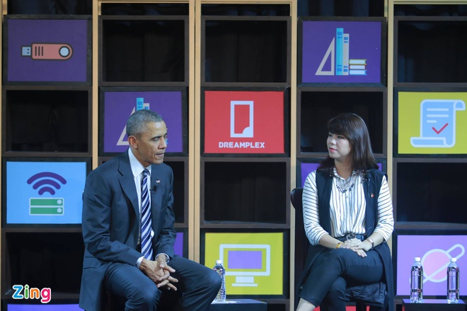 Doanh nhan Viet phan khich khi tro chuyen voi Obama hinh anh