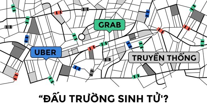 Taxi truyen thong va Uber, Grab: Thay doi de ton tai hinh anh