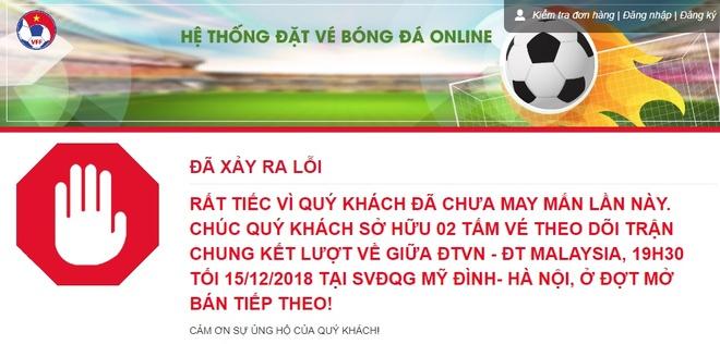 Mo ban dot cuoi ve tran Viet Nam vs Malaysia, het veo trong 2 phut hinh anh 1
