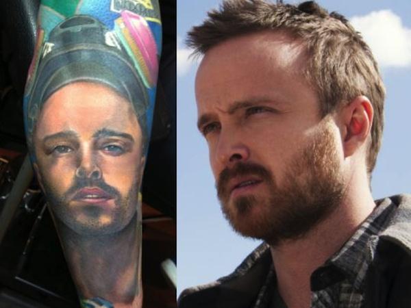 Vai diễn Jesse Pinkman của Aaron Paul được khắc hoạ chi tiết.
