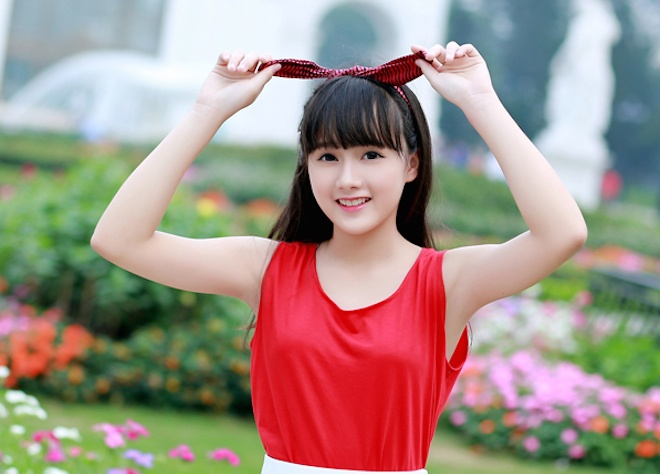 Nhan sac doi thuong cua 10X xinh nhu dien vien Han hinh anh