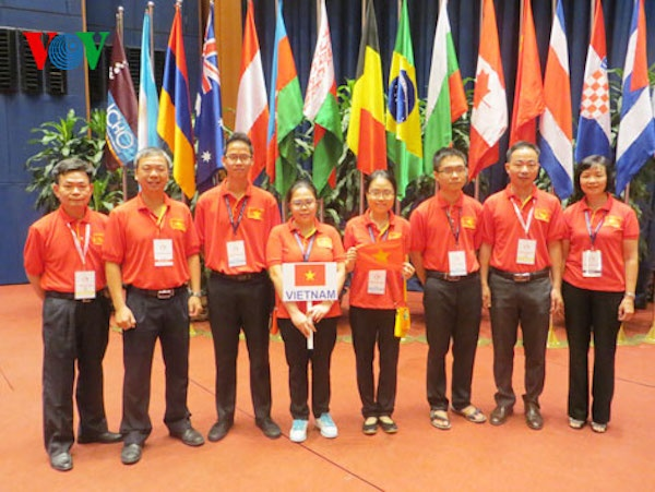 Viet Nam dang cai Olympic Sinh hoc quoc te hinh anh