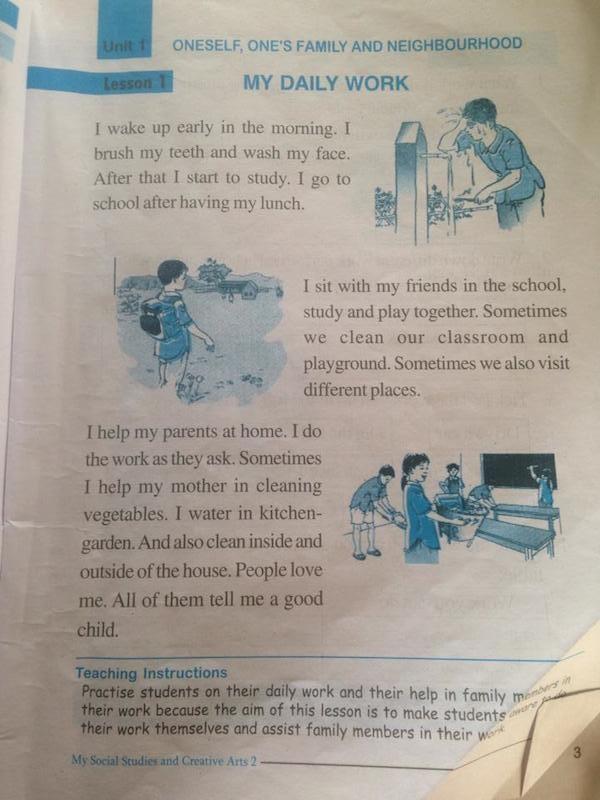Sách dạy tiếng Anh của học sinh tiểu học Nepal.