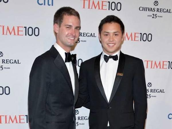 Chan dung ty phu tre tuoi nhat hanh tinh hinh anh 2 Hai nhà sáng lập ứng dụng Snapchat, Evan Spiegel (trái) và Bobby Murphy (phải) lọt vào top 100 người ảnh hưởng nhất thế giới năm 2014 do Time bình chọn.