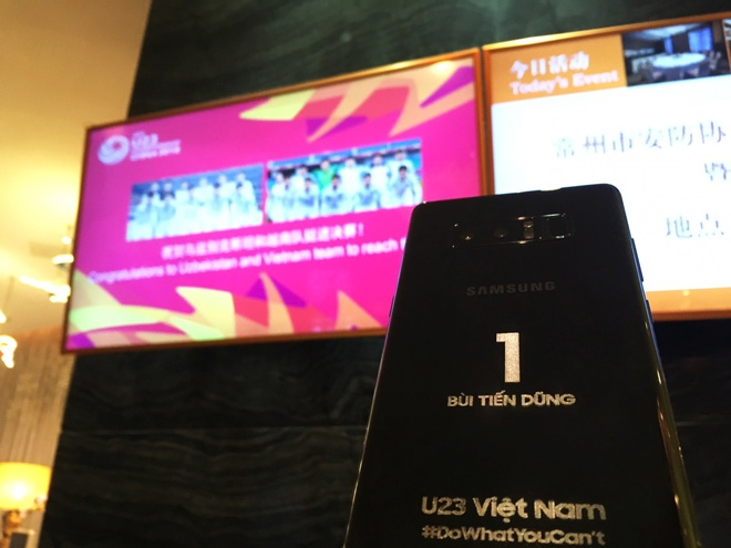 Samsung tang moi cau thu mot chiec Note 8 voi ten khac tren than may hinh anh 2