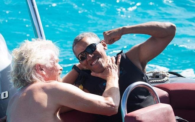 Cuu Tong thong Obama luot song hinh anh