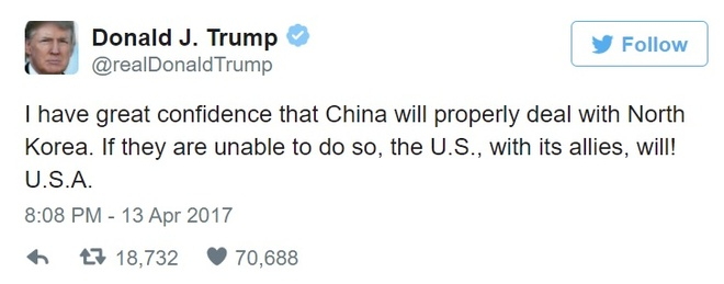 Tong thong Trump khang dinh se 'xu ly' van de Trieu Tien hinh anh 1