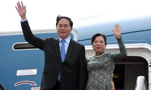 Chu tich nuoc Tran Dai Quang len duong tham chinh thuc Trung Quoc hinh anh 1