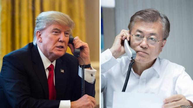 Ong Trump dien dam voi tan tong thong Han Quoc hinh anh 1