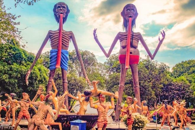 Vườn địa ngục khiến du khách ớn lạnh ở Thái Lan