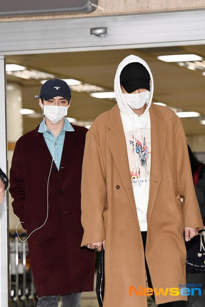 BlackPink, EXO phoi do sanh dieu cung khau trang tai san bay hinh anh 10 exo1.jpg
