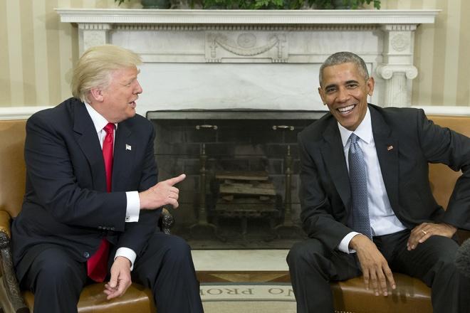 Ong Obama bat ngo bay to phan doi hiem thay voi chinh quyen TT Trump hinh anh 1 Trump_and_obama.jpg