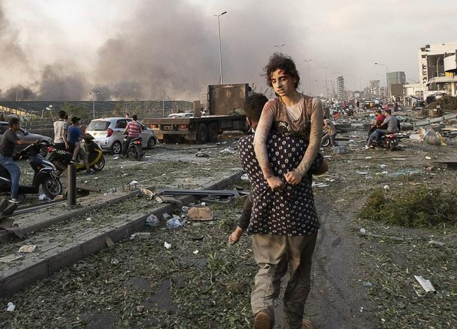 Xac nguoi nam rai rac trong tham hoa Beirut anh 2