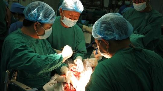 Nhung hinh anh lan dau cong bo ve ca ghep tang xuyen Viet hinh anh 2 Cùng các đồng nghiệp BV Chợ Rẫy phẫu thuật lấy tạng.