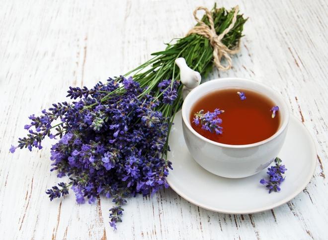 Trà hoa cúc và tinh dầu oải hương
