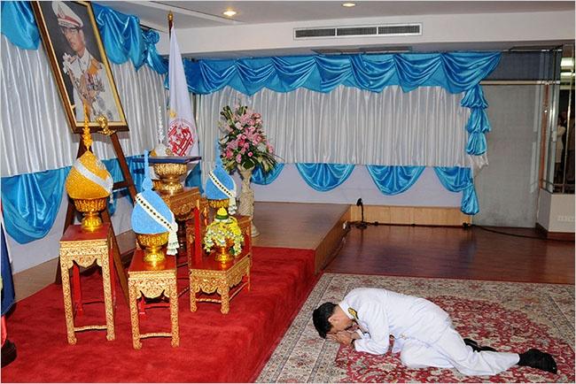 Cac doi thu tuong Thai va long ton kinh Quoc vuong Bhumibol hinh anh
