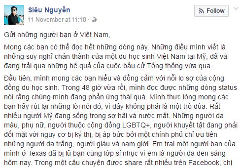 Du hoc sinh Viet o My bi tan cong sau bau cu hinh anh 1