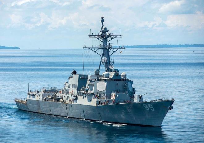 My dua tau khu truc USS Mustin toi Cam Ranh hinh anh 1
