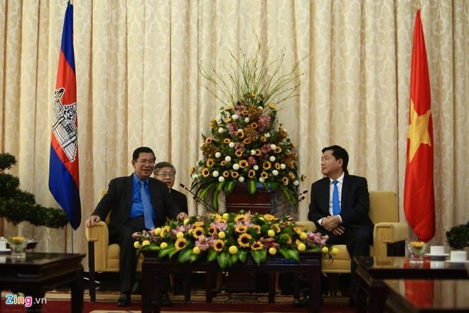 Thu tuong Campuchia Hun Sen gap go lanh dao TP.HCM hinh anh 1
