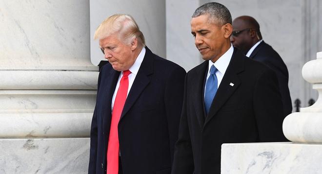 Ong Obama phu nhan nghe len dien thoai cua ong Trump hinh anh