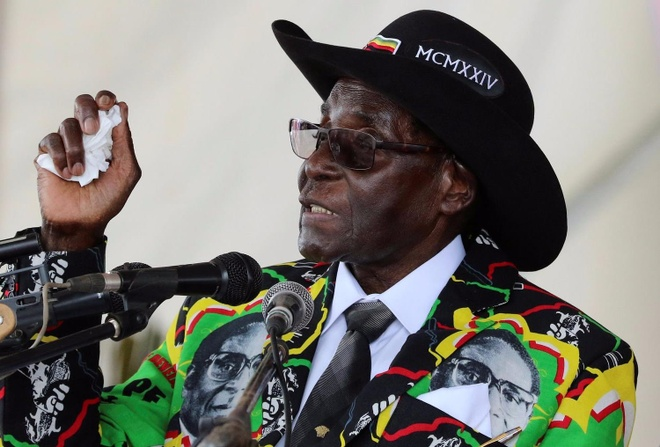 Tong thong 93 tuoi cua Zimbabwe van tranh cu sau 30 nam tai vi hinh anh