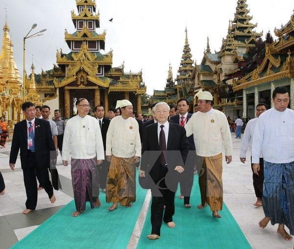 Tong bi thu Nguyen Phu Trong ket thuc chuyen tham Indonesia va Myanmar hinh anh