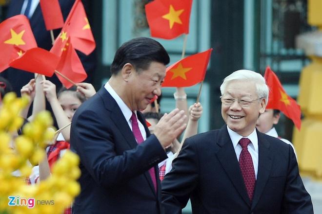 Bao chi Trung Quoc noi ve chuyen tham Viet Nam cua ong Tap hinh anh