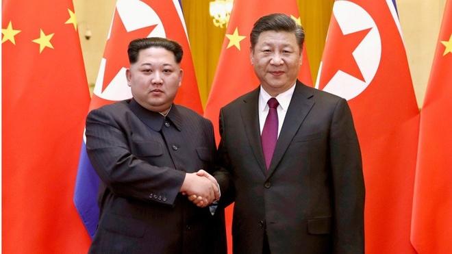 Ong Tap Can Binh tiep Kim Jong Un nong hau, hua ung ho Trieu Tien hinh anh 1