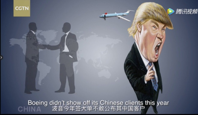 Truyen hinh nha nuoc Trung Quoc dang video cham biem TT Trump hinh anh 2