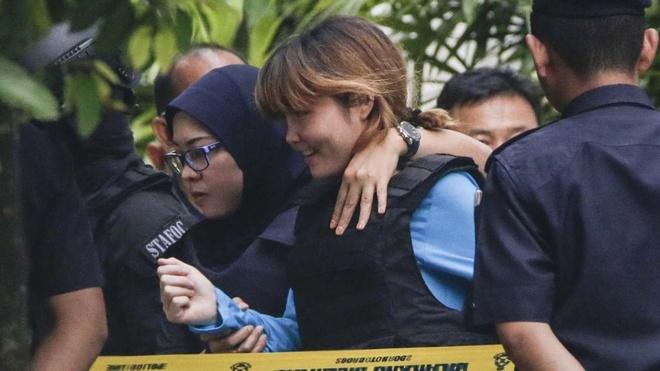 Truy tim 2 phu nu Indonesia de ra lam nhan chung nghi an Kim Jong Nam hinh anh