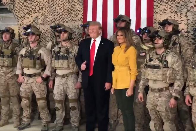 Chinh truong Iraq noi song vi TT Trump bat ngo tham quan tai day hinh anh 1