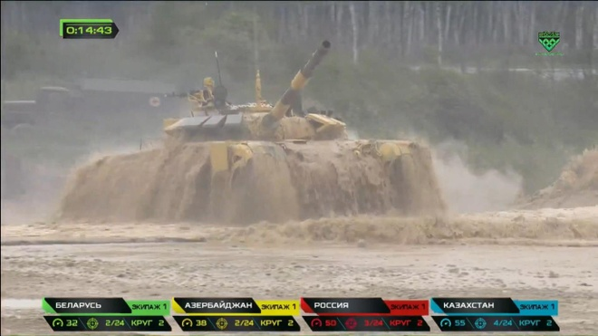 Vuot troi cac doi thu, doi Nga gianh chuc vo dich Tank Biathlon hinh anh 16