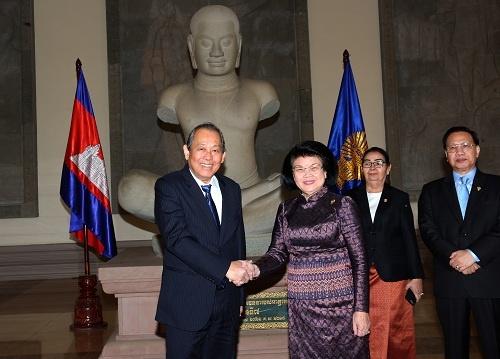 Pho thu tuong Truong Hoa Binh hoi kien Thu tuong Hun Sen hinh anh 3 5J4A6987.jpeg