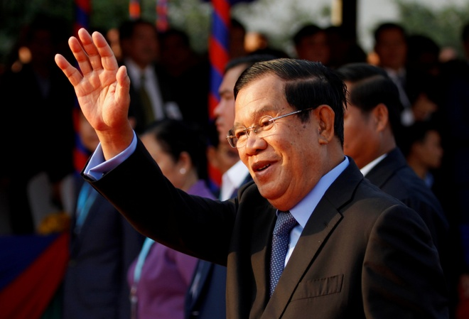 Thu tuong Hun Sen den Bac Kinh gap lanh dao TQ giua dich virus corona hinh anh 1 hunen.JPG