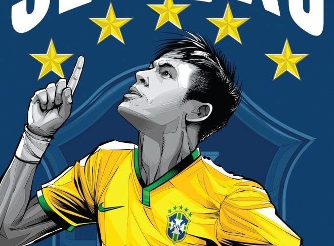 Poster co dong suc soi cua 32 doi tuyen World Cup 2014 hinh anh