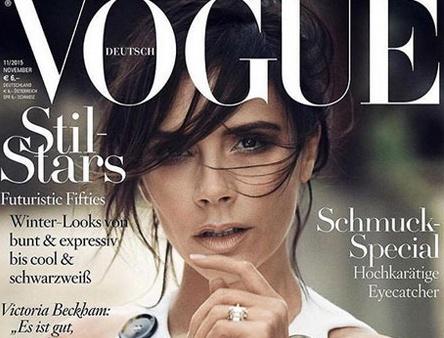 Theo chan sao: Ba Becks diu dang tren trang nhat Vogue hinh anh
