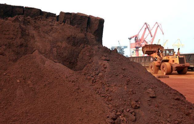 Một mỏ khai thác đất hiếm tại Giang Tô, Trung Quốc. Ảnh:STR/ AFP/Getty Images.