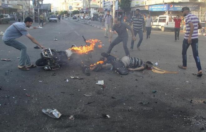 Hinh anh cua nam 2014: Mau nhuom do dai Gaza hinh anh 1