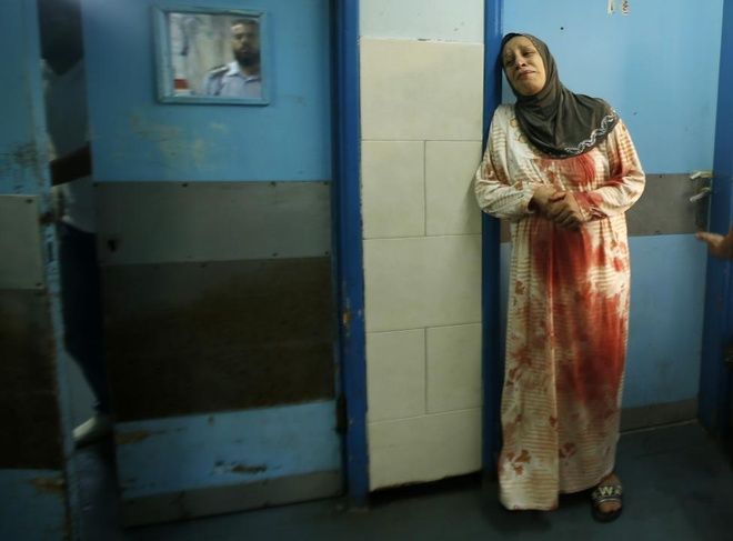 Hinh anh cua nam 2014: Mau nhuom do dai Gaza hinh anh 11
