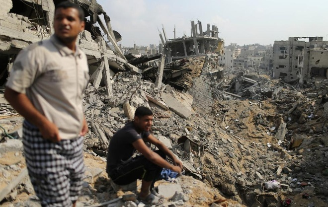 Hinh anh cua nam 2014: Mau nhuom do dai Gaza hinh anh 12