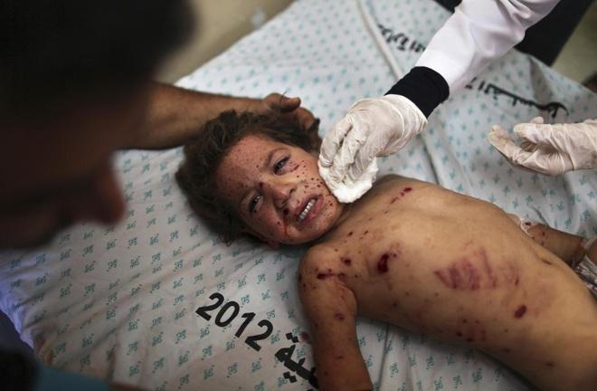 Hinh anh cua nam 2014: Mau nhuom do dai Gaza hinh anh 2
