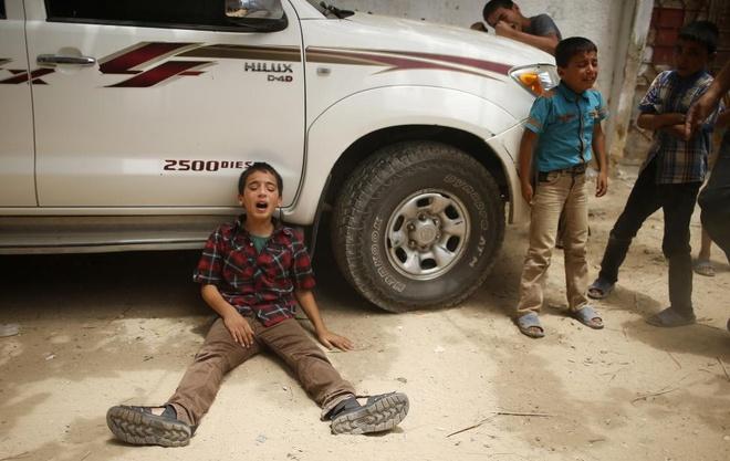 Hinh anh cua nam 2014: Mau nhuom do dai Gaza hinh anh 4