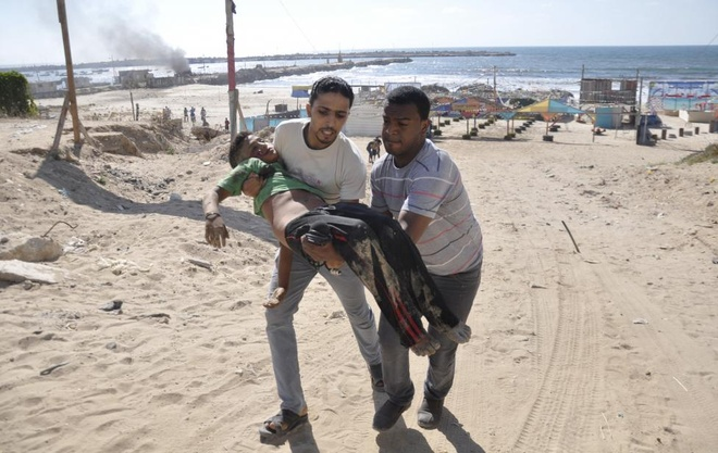 Hinh anh cua nam 2014: Mau nhuom do dai Gaza hinh anh 5