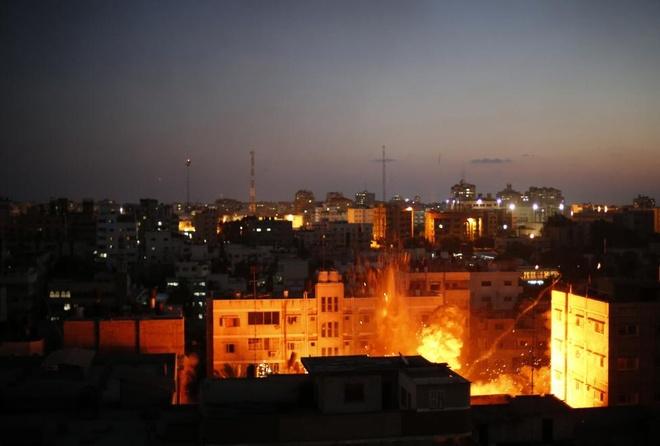Hinh anh cua nam 2014: Mau nhuom do dai Gaza hinh anh 7