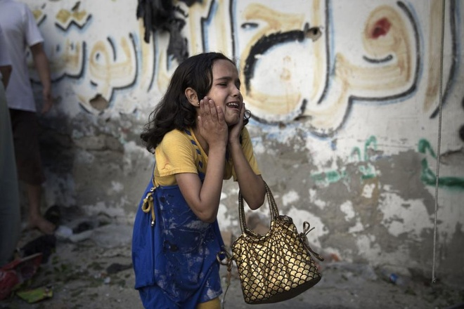 Hinh anh cua nam 2014: Mau nhuom do dai Gaza hinh anh 9