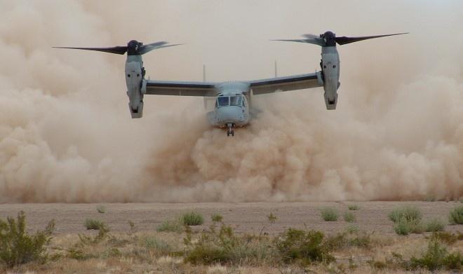 'Quai vat' MV-22 Osprey gap nan, 1 linh My tu vong hinh anh