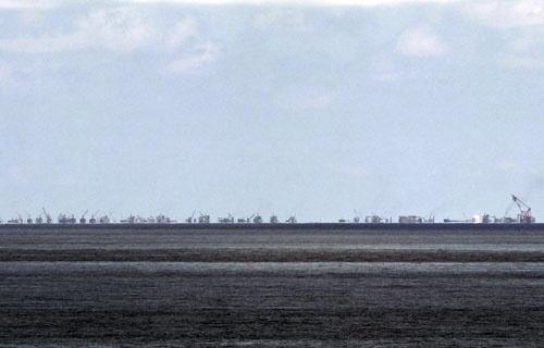 Can canh muc do xay 'dao nhan tao' nghiem trong cua TQ hinh anh 2 Hoạt động xây đảo nhân tạo trái phép của Trung Quốc trên bãi Su Bi.