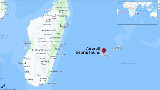 Phat hien manh vo nghi cua MH370 o chau Phi hinh anh 2 Vị trí hòn đảo Reunion, nơi phát hiện mảnh vỡ nghi là cánh MH370. Ảnh: CNN