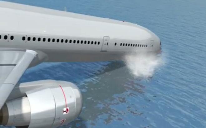 Mo phong MH370 lao xuong bien khien manh vo ban ra ngoai hinh anh