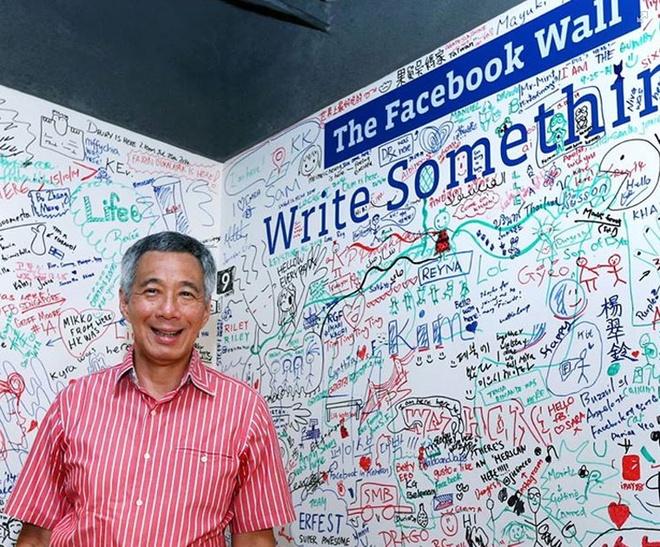 Thu tuong Singapore gan gui tren Facebook hinh anh